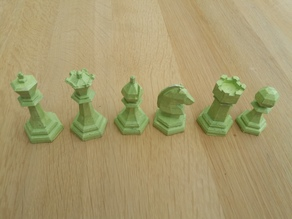 Chess set low poly (designed from scratch)