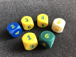 Dual Color Number Dice