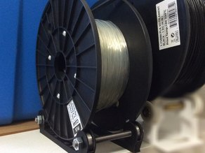 Half of a spool holder that uses 608zz bearings