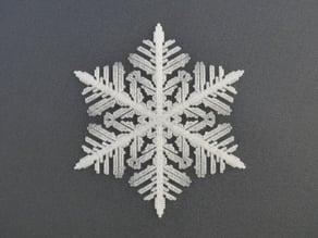 Snowflake growth simulation in BlocksCAD