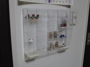 MUJI Acrylic Collection Case Wall mount Holder