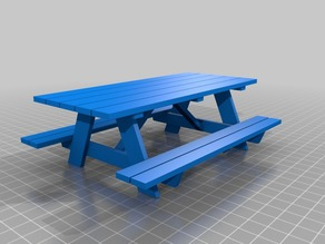 1:16 Scale Picnic Table
