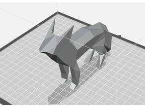 low poly basic fox