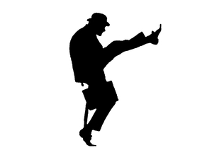 Ministry of silly walks logo