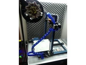 New Filament Guide with cleaner, filament sensor and cable management
