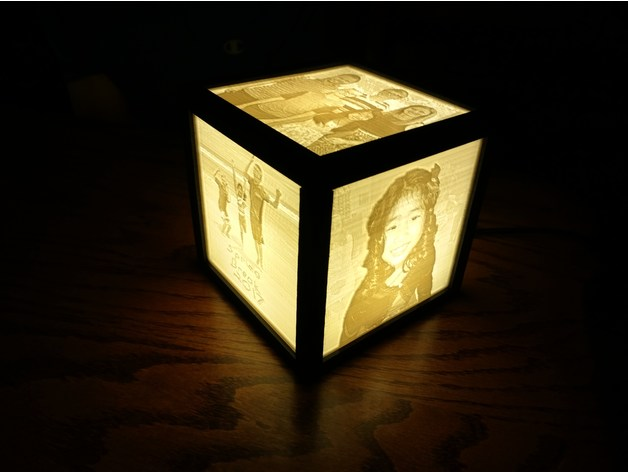 Lithophane Lamp Frame Optimized For Minimal Frame