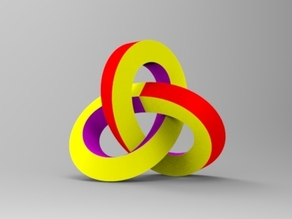 Mobius trefoil knot.