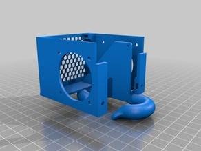 i3 Mega hotend case / 2 side fan duct