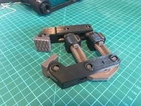 Hand Screw Clamp: Rigid Threaded Rods