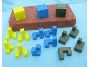 Three Puzzles - Tiling a 3x3x3 Cube