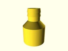 Adapter für Waschmaschinen-Abflussschlauch auf HT-Rohr