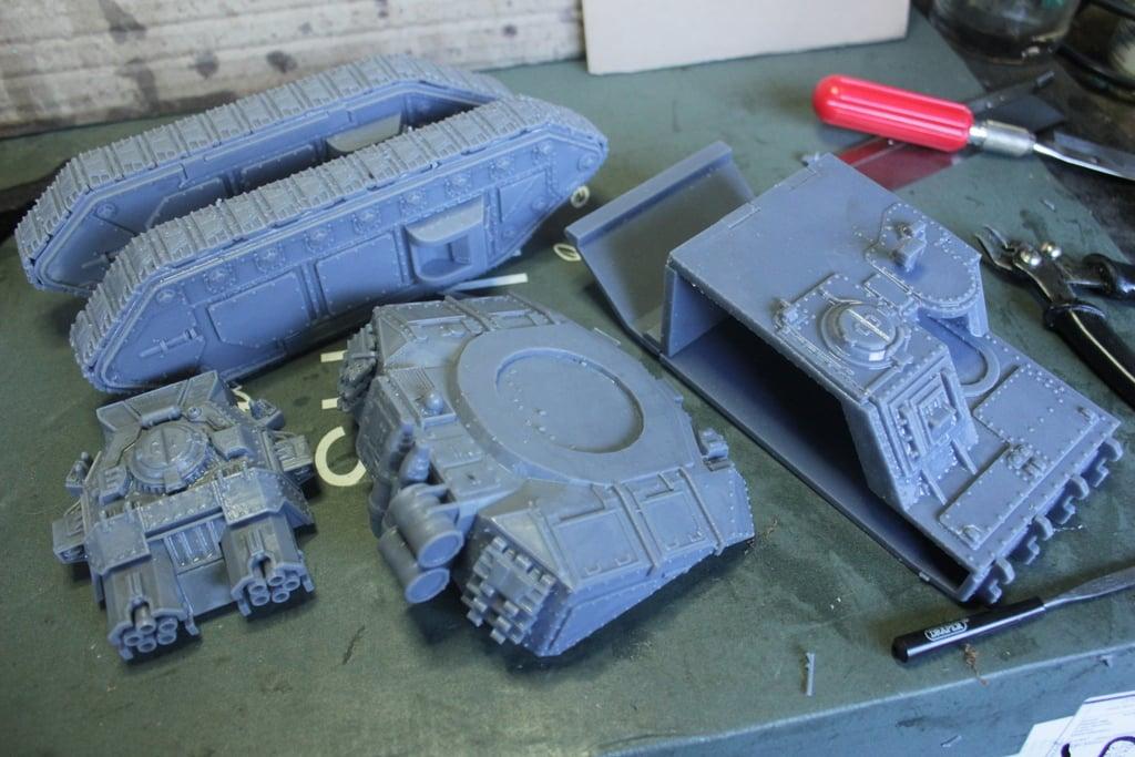 Macharius Vulcan Tank by jaker3278 - Thingiverse