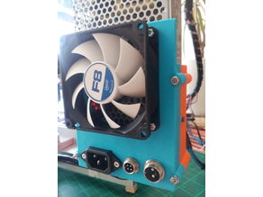 MEAN WELL RS-150-12 Power supply case with 80mm fan and dc-dc LM2596 bucket converter