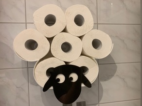Schaf-Toilettenrollenhalter / Sheep toilet roll holder