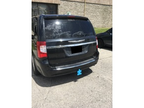 Receiver hitch cover for Autism Awareness Extended