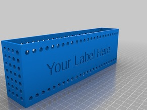 Customizable Crate with Label (Customizable Labeled Container 2-1)