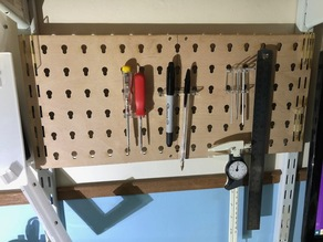 Lasercut Mini Pegboard Toolboard