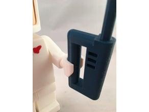 Giant LEGO walkie-talkie