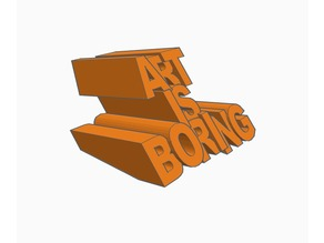 Art is Boring  | | Keyring | Sign
