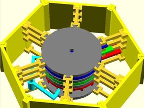 Planetary Gearbox Clock