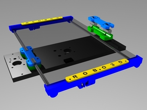 Robo3D Y-axis smooth rod upgrade for stock bed REMIX