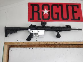 AR-15 rifle wall mount