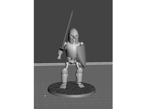 28mm Skeleton Warrior Armoured with Sword and Shield