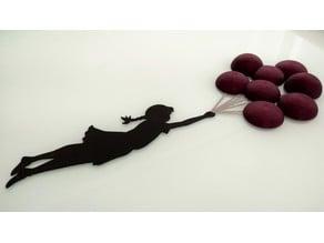 Banksy Balloon Girl - 3D Wall Art