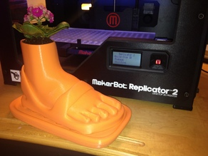 Planter Foot Shaped Flower Pot