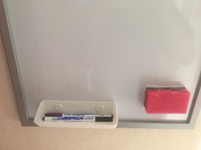 Magnetic storage for whiteboard markers / Rangement magnétique pour marqueurs de tableau blanc