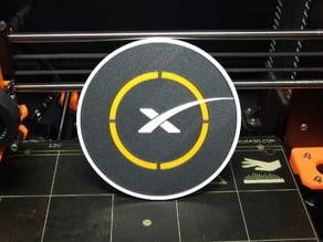 SpaceX landing pad (single&multi-material)