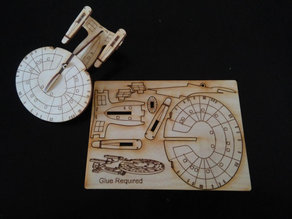 USS Enterprise Ornament Card