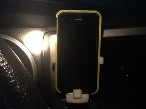 Iphone 4 vent mount with charger