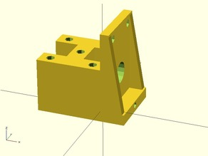 Small Gear Motor Mount (Dagu, other similar motors with 90 degree shaft)