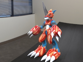 Flamedramon Digimon Fan Made