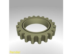 Rounded Gear Fidget Ring Thin - Size 7