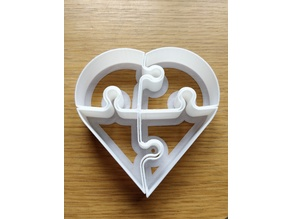 Heart Puzzle Cookie Cutter