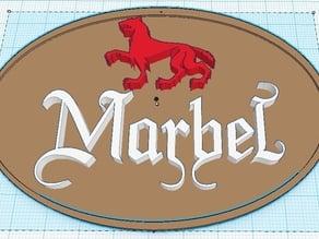 Cerveza Artesana Marbel (logo)