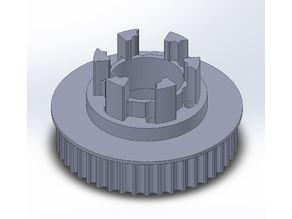 Longboard ABEC 11 Flywheels - Flywheel Clones - MBS All Terrain Wheels - CNC 44T Single Piece Pulley for 9mm, 12mm, 15mm Belts