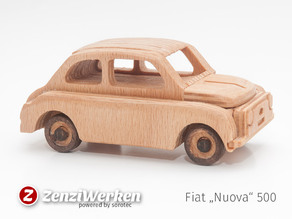 Fiat Nuova 500 simplified cnc/laser
