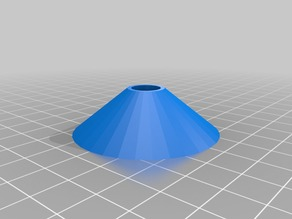 simple cone for centering filament spool on axis