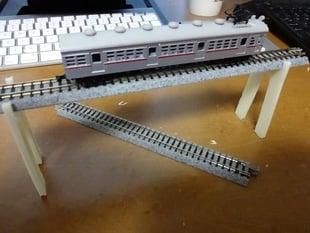 A pillar for model train (N-gauge)