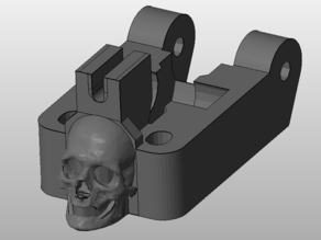 Filament guide for Accessible Wade's Extruder W/Skull