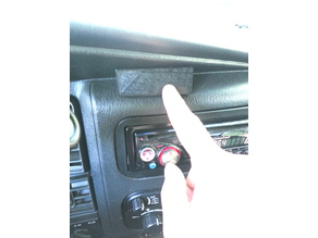Durango dash mount wedge for mounting a radio head or other uses