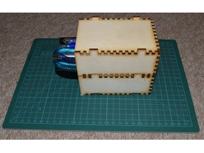 laser cut drawer and stackable boxe