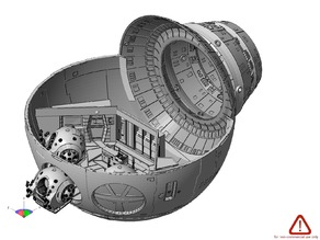 Discovery 1 from 2001: A Space Odyssey -- Sphere with Pod Bay