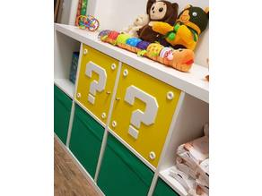 Super mario block for IKEA shelfs