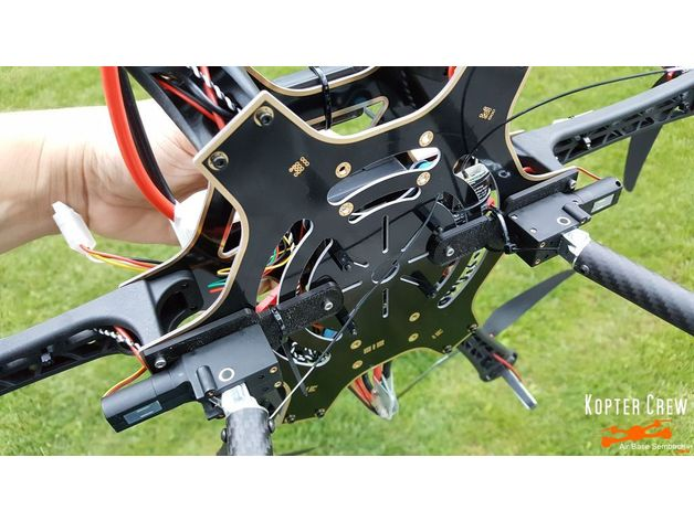 Pack of 2 pcs Hobbypower Tarot TL65B44 Retractable Landing Skid Gear Carbon Fiber Mount for F550