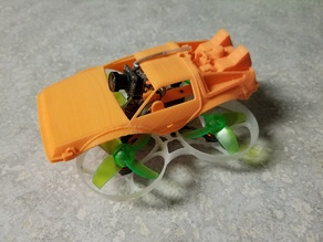 BTTF Delorean Cover for Tiny Whoop