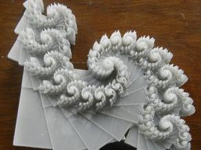Spiral fractal based on an affine IFS